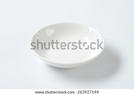 empty white bowl on white background - stock photo
