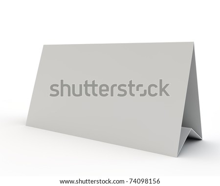 empty white display - stock photo