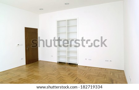Empty White Office Room Detail - stock photo