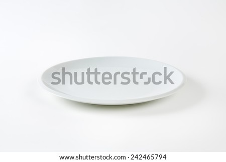 empty white plate on white background - stock photo