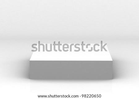 Empty white podium - stock photo