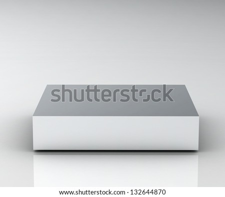 Empty white podium (high resolution 3D image) - stock photo