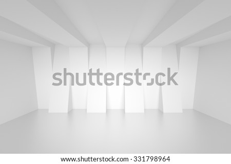 Empty White Room. Abstract Interior Background - stock photo
