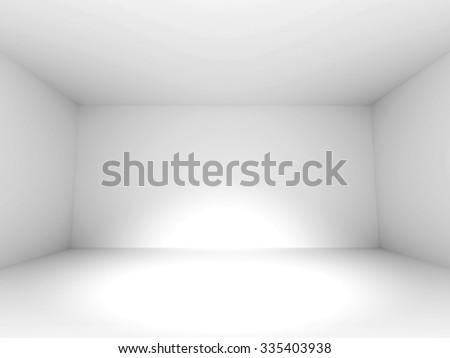 Empty White Room Design Background. 3d Render Illustration - stock photo