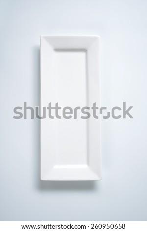 empty white tray on white background - stock photo