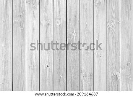 Empty White Wood Planks or Boards as Background or Texture, Natural Pattern