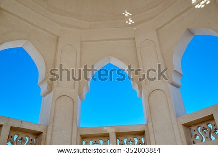 empty windows of a mosque