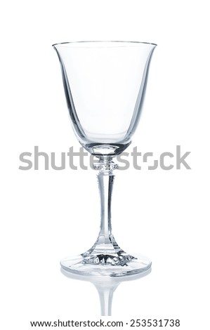 Empty wine glass closeup - stock photo