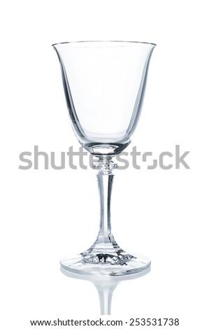 Empty wine glass closeup - stock photo