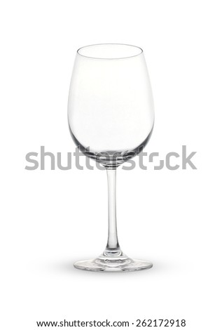 Empty wine glass. isolated on a white backgroun - stock photo