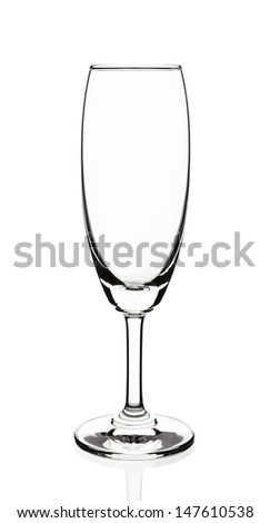 Empty wine glass isolated on white background - stock photo