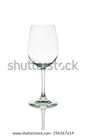 Empty wine glass. isolated on white background - stock photo