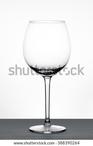 Empty Wine Glass with Clear White Background