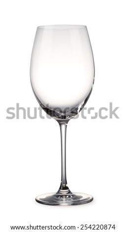Empty Wine glass with clipping path - stock photo