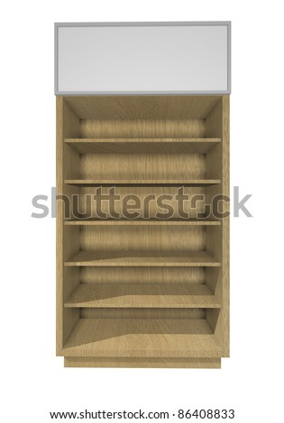 Empty wood Shelf Design for Ad