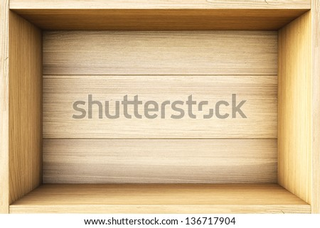 empty wooden box. - stock photo