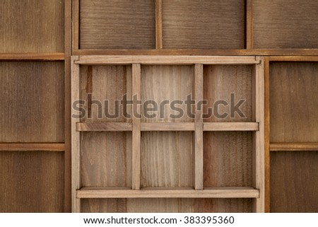 Empty wooden box texture background