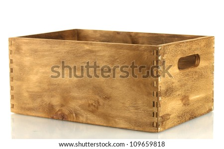 Wooden Warehouse Crates Empty Wooden Crate Isolated on