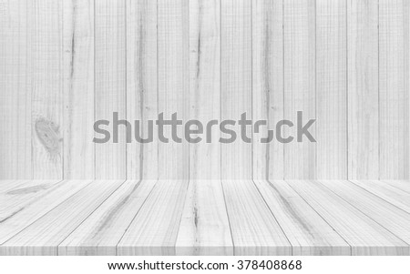Empty  wooden room or shelf wall background, For present your products. - stock photo