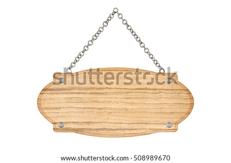 empty wooden sign isolated on white