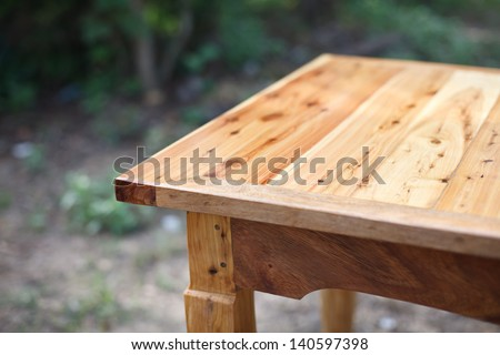 Empty wooden table - stock photo