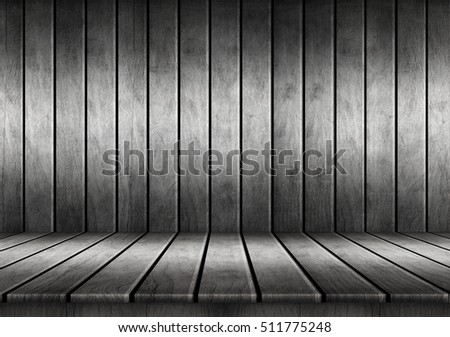 Empty wooden table for design