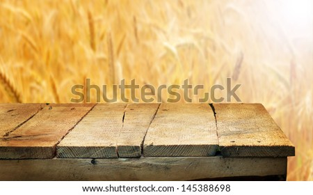 Empty wooden table for product display montages - stock photo