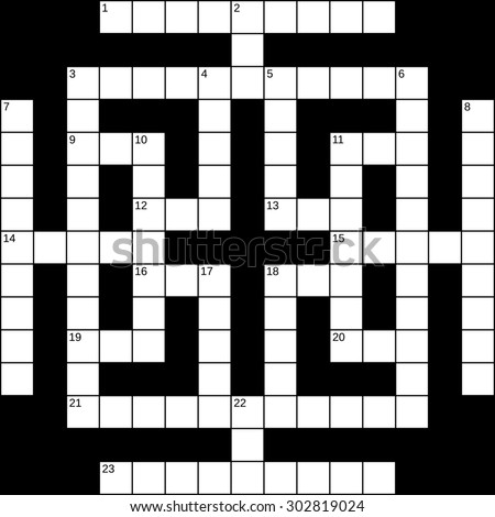 Vector Crossword Puzzle Template Stock Vector   Shutterstock