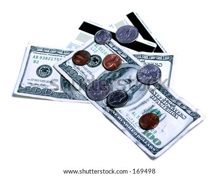 emptying wallet - stock photo