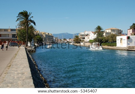 Empuriabrava (Costa Brava, Spain), one of the largest residential marina in Europe.