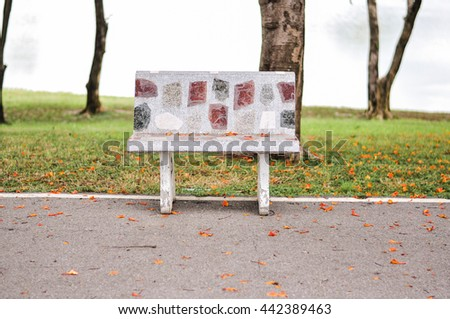 Emtry chair in park