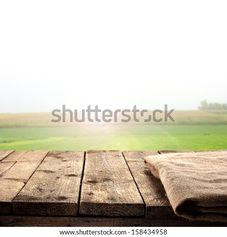 emty table in morning space  - stock photo