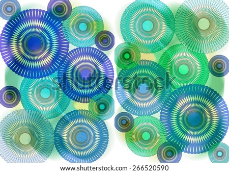 Enchanting   unique  modern    abstract design  with  geometric  motifs superimposed   on a   plain blurred    background ideal for  superbly    elegant  wallpapers. - stock photo