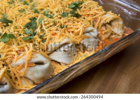 enchilada casserole - stock photo