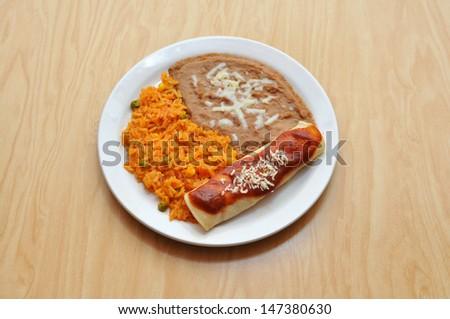 Enchilada Plate - stock photo
