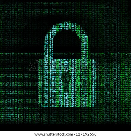 encrypted digital lock - stock photo