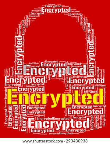 Encrypted Word Indicating Encrypting Wordcloud And Password - stock photo