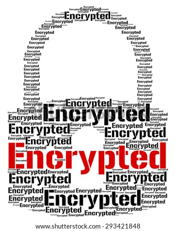 Encrypted Word Showing Forbidden Cipher And Security - stock photo