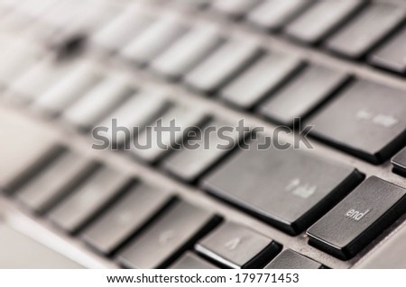 End key on computer keyboard.
