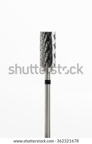 End mill tool isolated on white background
