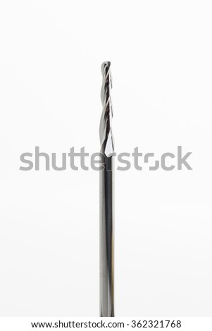 End mill tool isolated on white background - stock photo