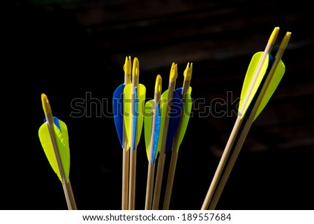 End of arrows - stock photo