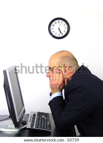 End of dayworker - stock photo