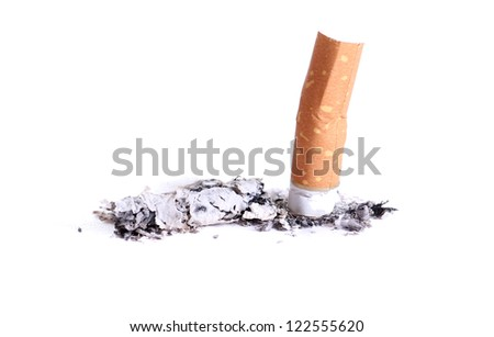 end of smoking - stock photo