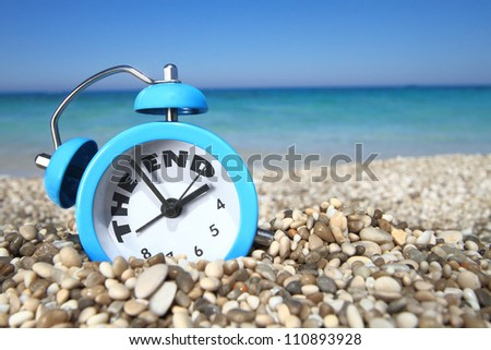 End of summer - stock photo