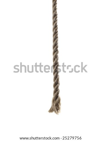 End of the rope - stock photo
