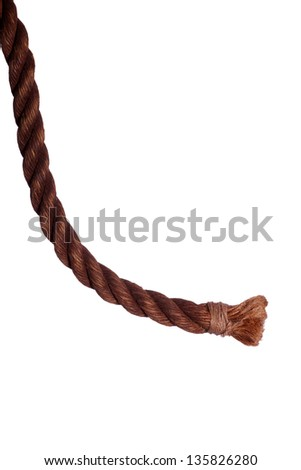 end of very old rope - stock photo