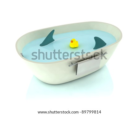 endangered duck in the bathtub
