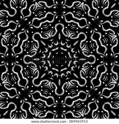 Endless lace ornament. Seamless abstract pattern