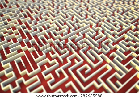 Endless maze background - stock photo